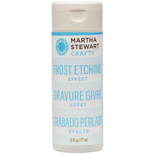 Martha Stewart Frost Etching Effect