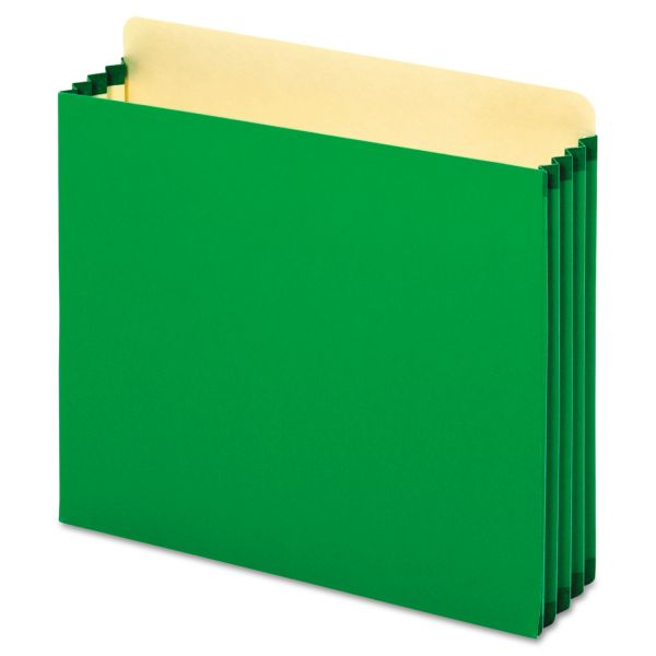 Pendaflex Heavy-Duty Green Colored Expanding File Pockets
