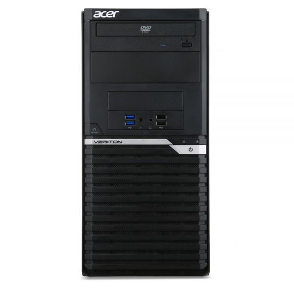 Acer Veriton M6640G VM6640G-70020 Desktop Computer - Intel Core i5 (6th Gen) i5-6500 3.20 GHz - Mini-tower - Black, Silver