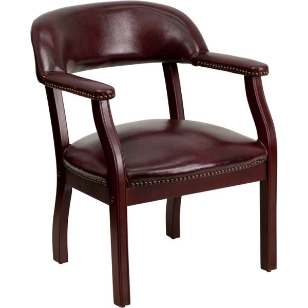 Flash Furniture Oxblood Vinyl Luxurious Conference Chair