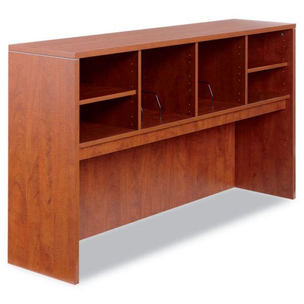 Alera Valencia Series Open Storage Hutch, Laminate, 65w x 15d x 35-1/2h, Medium Cherry