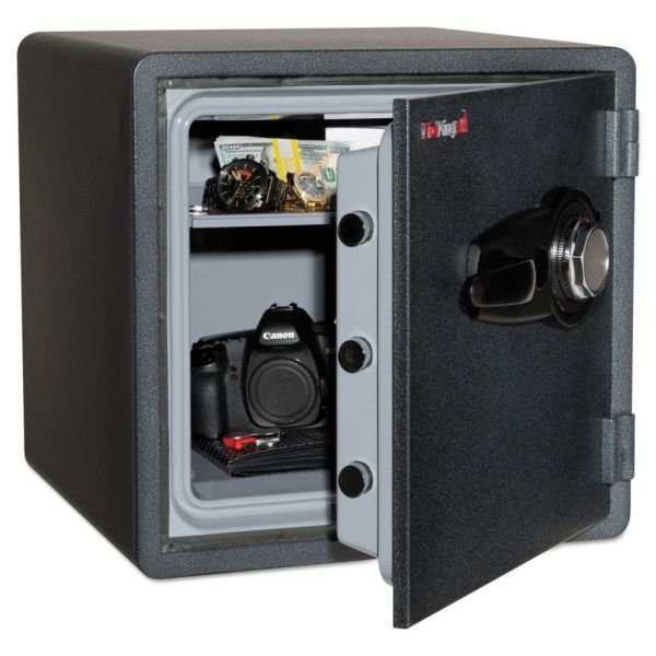 FireKing One Hour Fire and Water Safe with Combo Lock, 1.23 cu. ft., Graphite