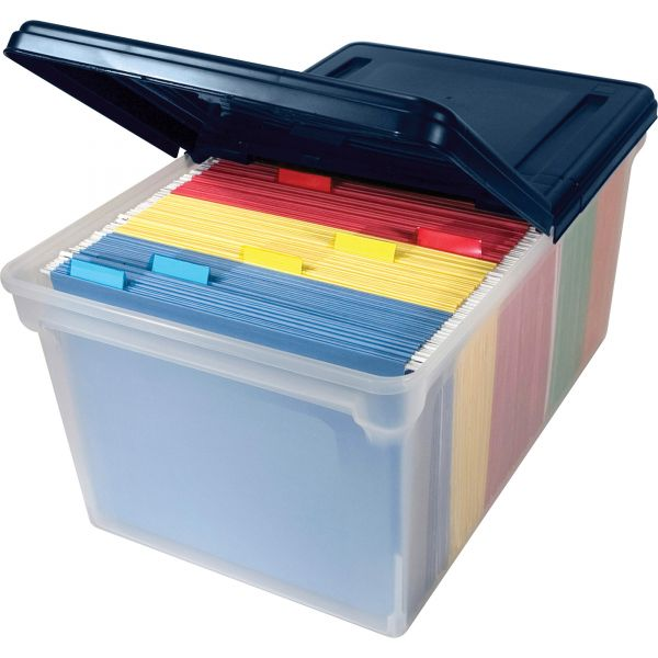 Innovative Storage Designs File Tote with Hinged Lid