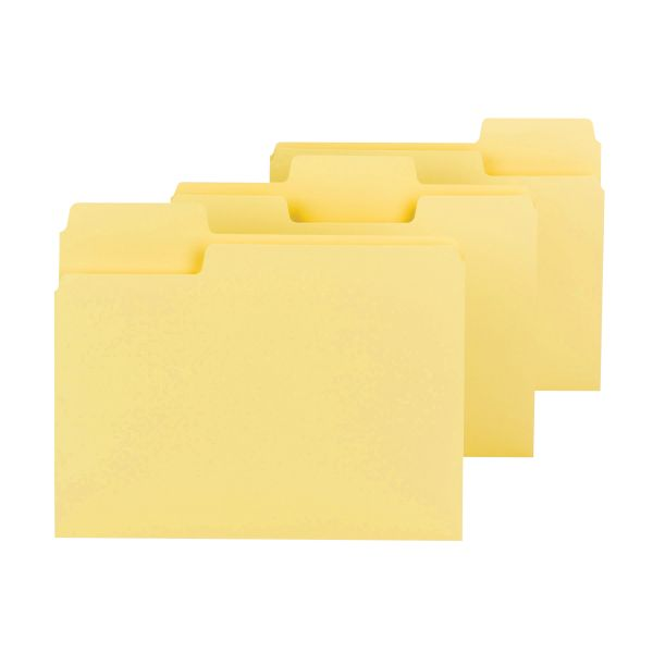 Smead SuperTab Yellow Colored File Folders