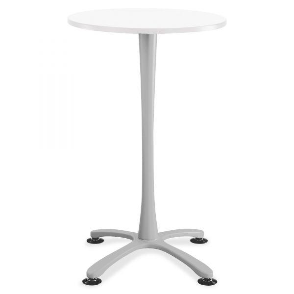 "Safco Cha-Cha Bistro Height Table Base, X-Style, Steel, 42"" High, Metallic Gray"