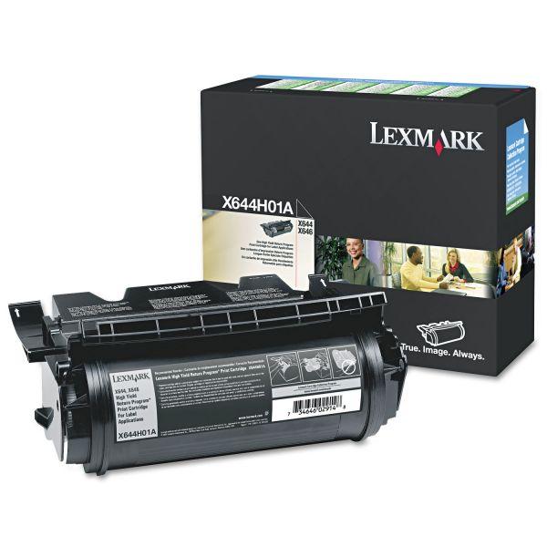 Lexmark X644H01A Black Extra High Yield Return Program Toner Cartridge