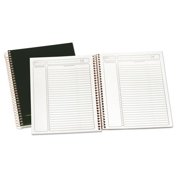 Ampad Gold Fibre Wirebound Writing Pad w/Cover, 9 1/4 x 7 1/4, White, Green Cover