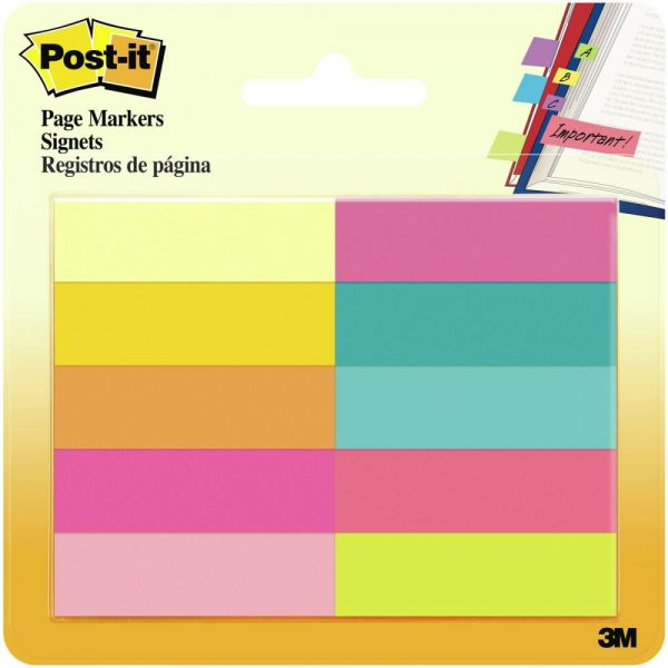 "Post-It Page Markers .5""X1.75"" 10/Pkg"