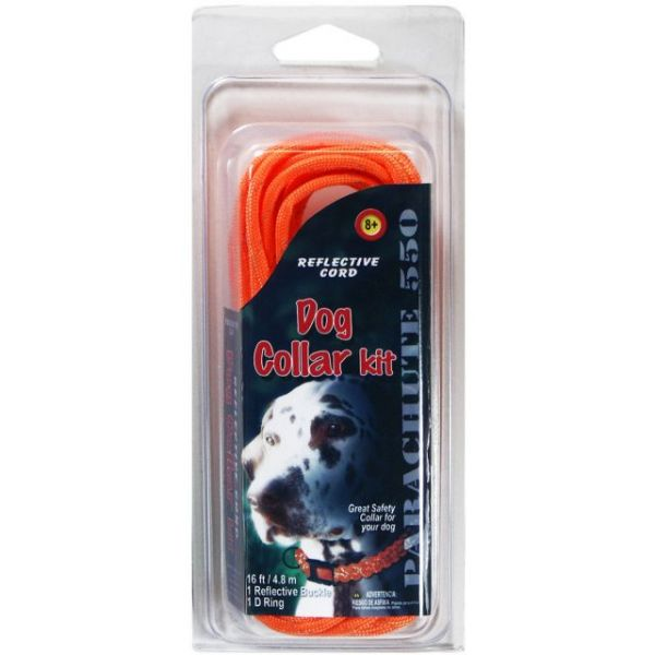 Parachute Cord Reflective Dog Collar Kit