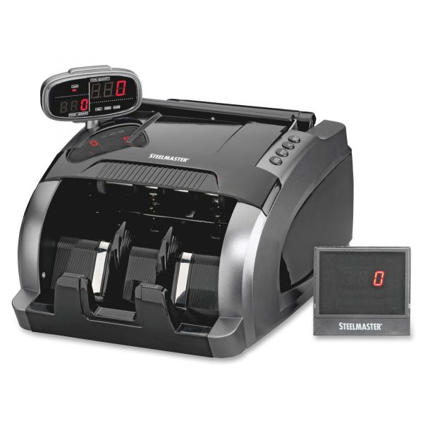 SteelMaster 4800 Currency Counter, 1080 Bills/Min, 9 1/2 x 11 1/2 x 8 3/4, Charcoal Gray