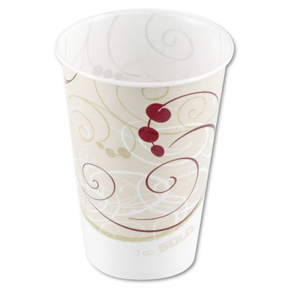 Dart Waxed Paper Cold Cups, 7 oz, Symphony Design