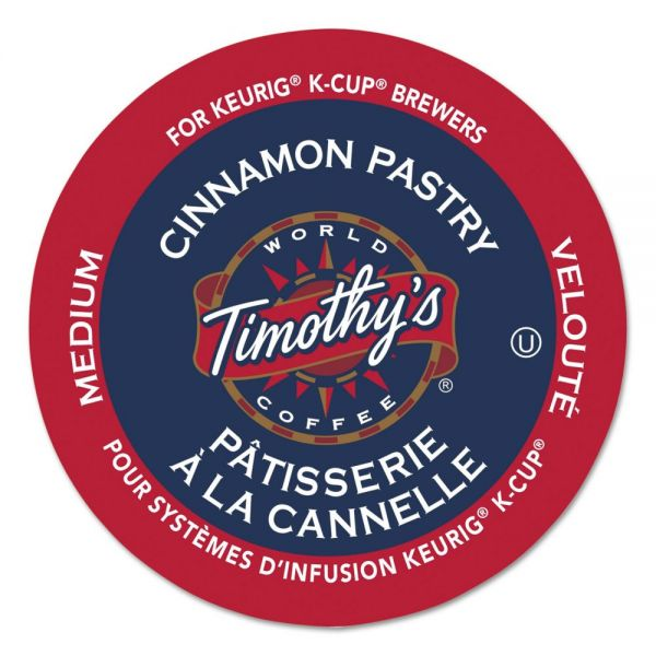 Timothy's World Coffee Cinnamon Pastry Coffee K-Cups
