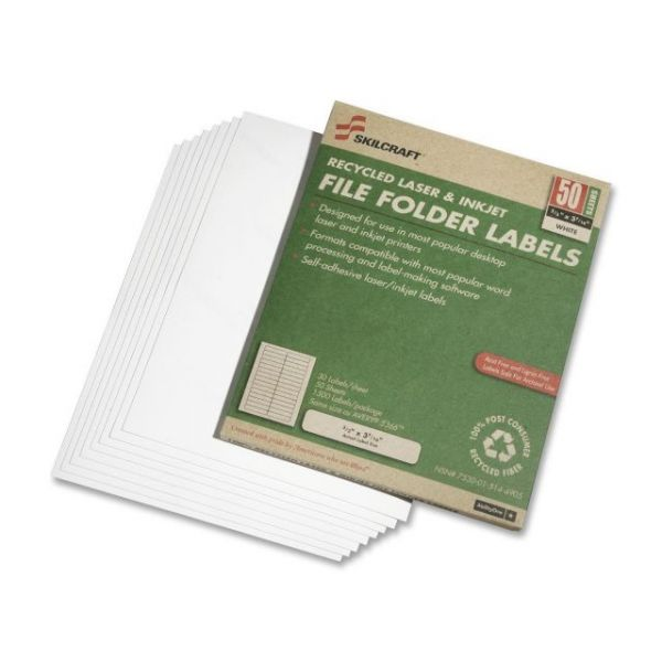 Skilcraft File Folder Labels