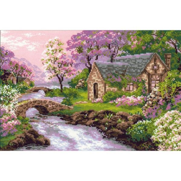 Spring View Counted Cross Stitch Kit