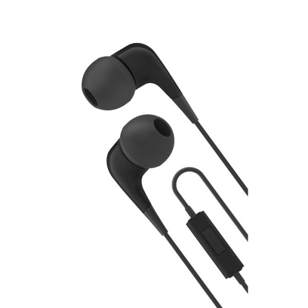 Cygnett 2XS Wired Headphones With Built-in-mic - Black & Grey