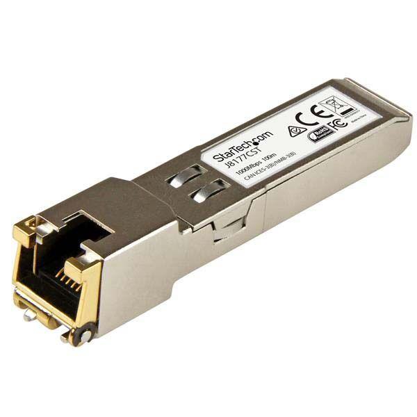 StarTech.com Gigabit RJ45 Copper SFP Transceiver Module - HP J8177C Compatible SFP - 1000Base-T - Mini-GBIC