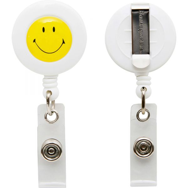 SICURIX Smiley Face ID Card Reel with Belt Clip