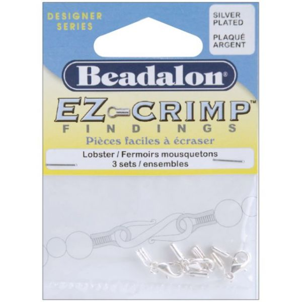 Beadalon Ez Crimp Lobster Clasps 3/Pkg