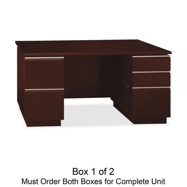 bbf Milano 2 Double Pedestal Computer Desk by Bush Furniture *Box 1 of 2