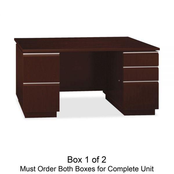bbf Milano 2 Double Pedestal Computer Desk by Bush Furniture *Box 1 of 2