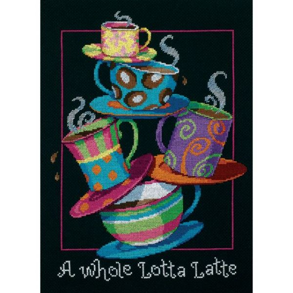 Dimensions A Whole Lotta Latte Counted Cross Stitch Kit