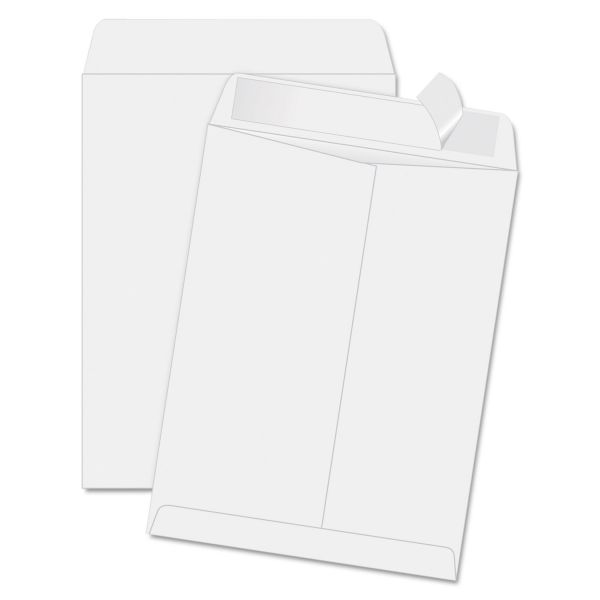 Quality Park Redi Strip Catalog Envelope, 11 1/2 x 14 1/2, White, 100/Box