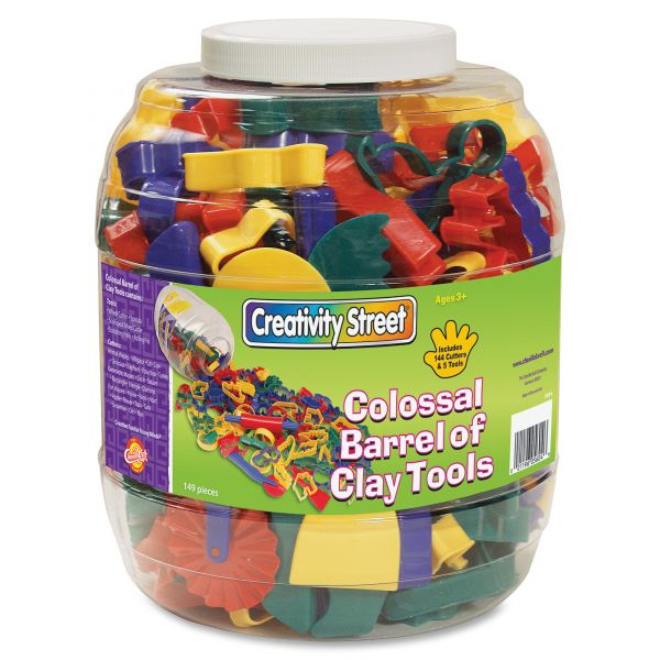 Creativity Street Colossal Barrel of Clay Tools