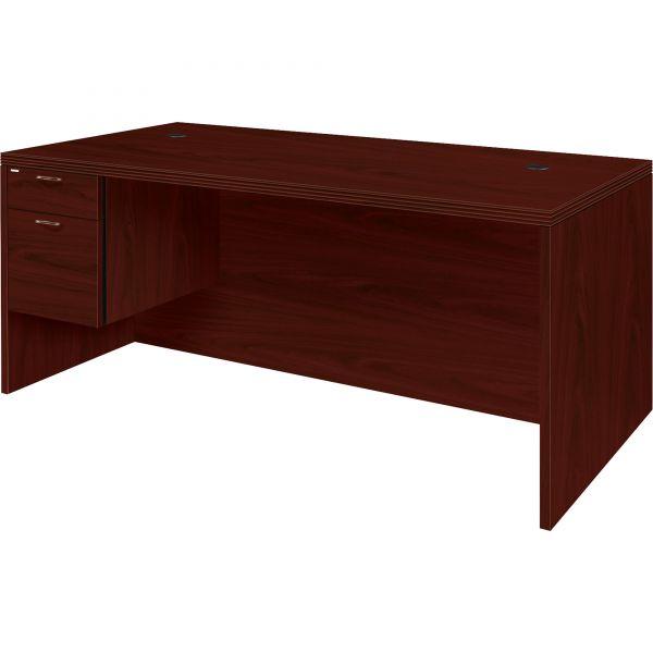 "HON Valido Left Pedestal Desk | 1 Box / 1 File Drawer | 72""W"