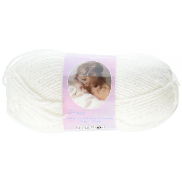 Mary Maxim Baby's Best Yarn - White Sparkle