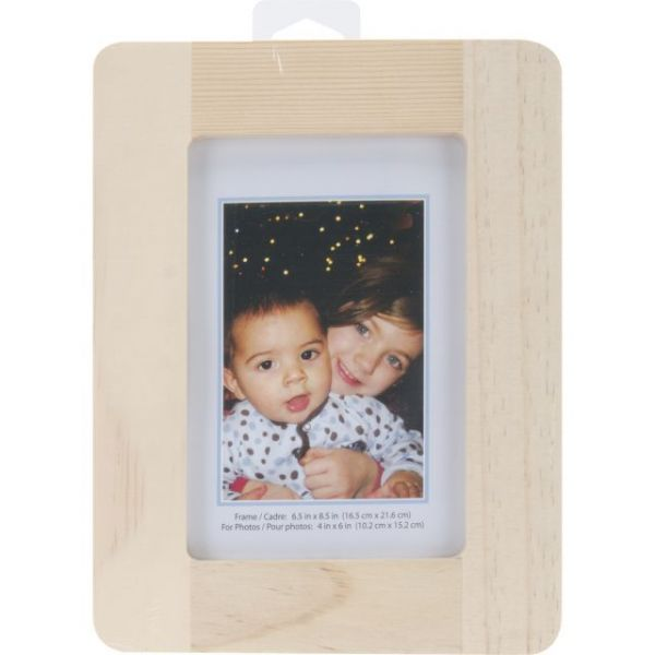 Natural Pine Desktop Photo Frame