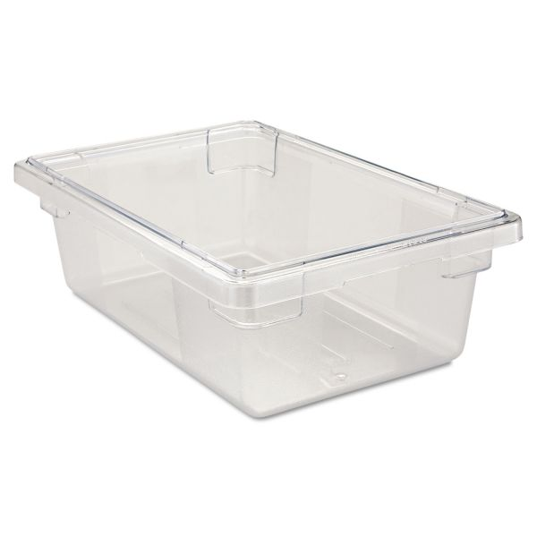 Rubbermaid Commercial Food/Tote Boxes, 3 1/2gal, 18w x 12d x 6h, Clear