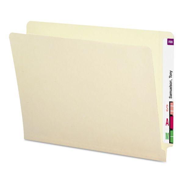 Smead Heavyweight Folders, Straight Two-Ply End Tab, Letter, Manila, 50/Box