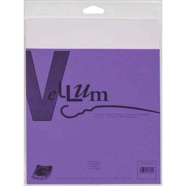 """Vellum 8.5""""X11"""" 12/Pkg"""