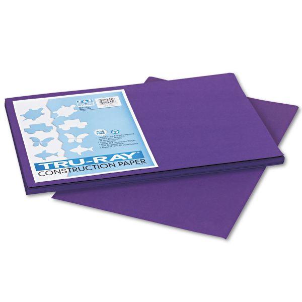 Tru-Ray Heavyweight Purple Construction Paper