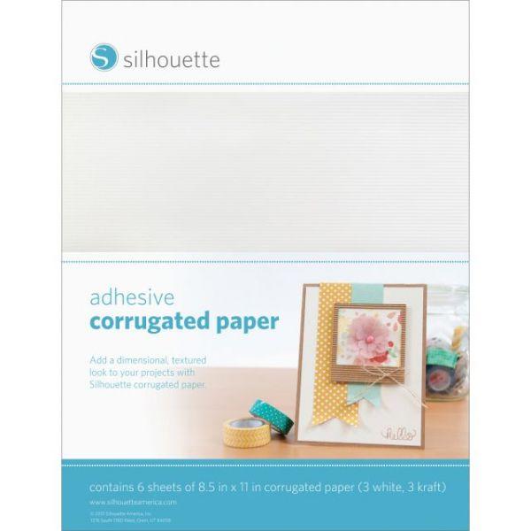 "Silhouette Adhesive Back Corrugated Paper 8.5""X11"" 6/Pkg"
