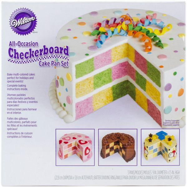 Wilton Checkerboard Cake Pan Kit