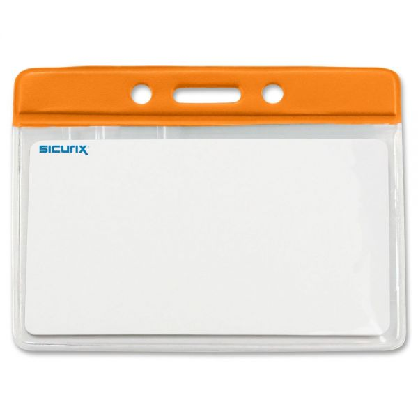 SICURIX Color Border Horizontal Badge Holders