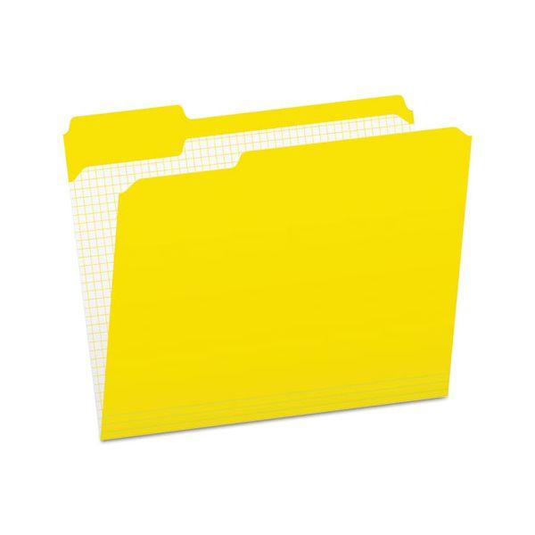 Pendaflex Reinforced Top Tab File Folders, 1/3 Cut, Letter, Yellow, 100/Box