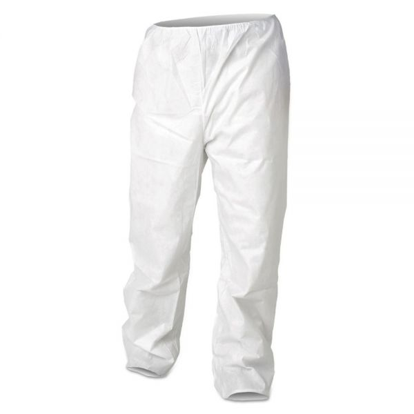 KleenGuard* A30 Breathable Particle Protection Pants, X-Large, White, 50/Carton