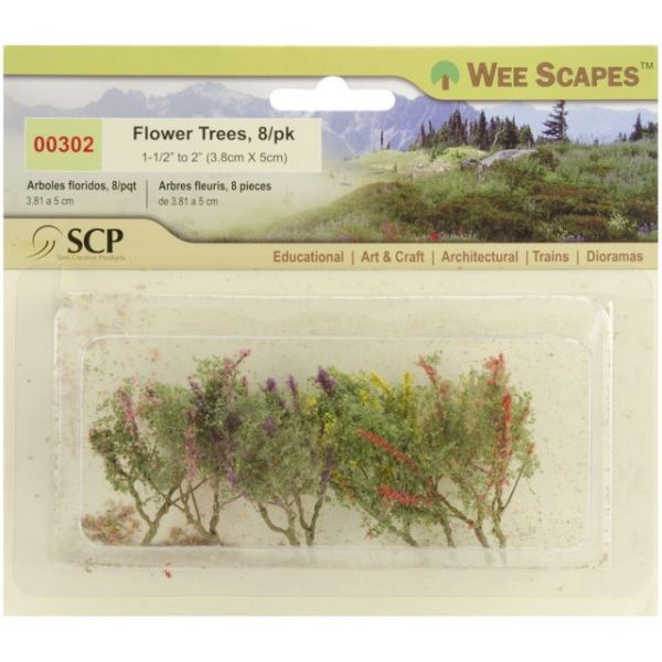 "Flower Trees 1.5"" To 2"" 8/Pkg"