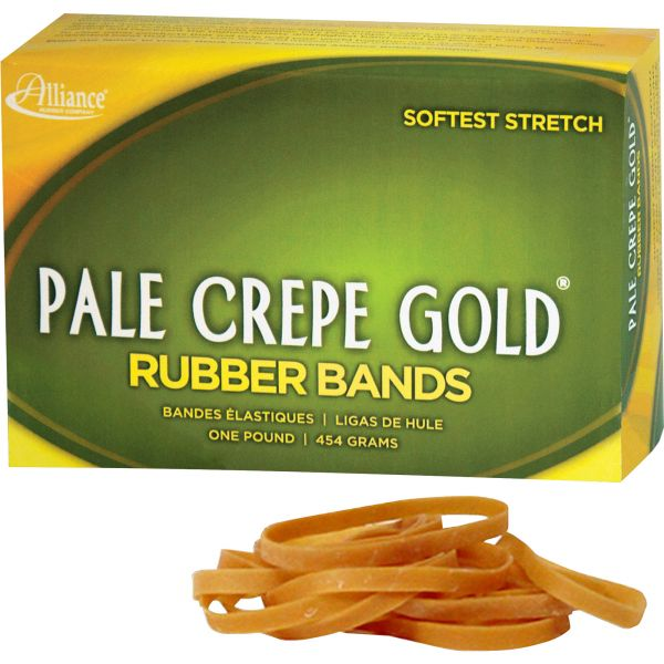 Pale Crepe Gold #18 Rubber Bands