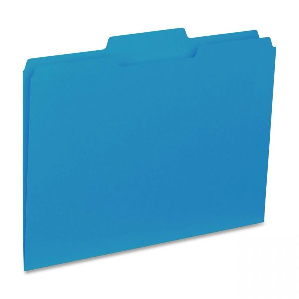 Business Source Blue Colored File Folders