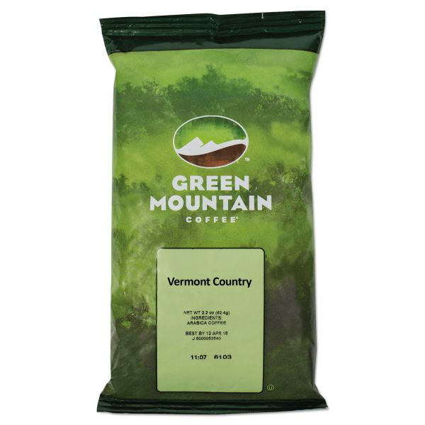 Green Mountain Coffee Vermont Country Blend Coffee Fraction Packs, 2.2oz, 100/Carton