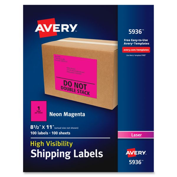Avery 5936 Neon Shipping Labels