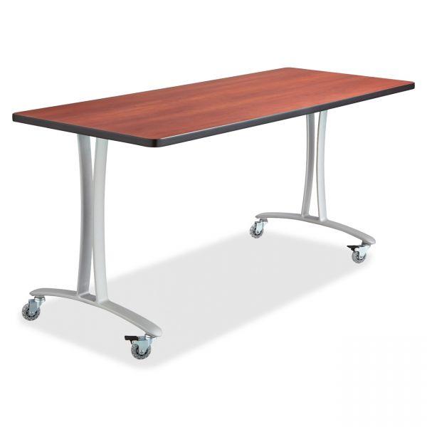Safco Cherry Rumba Training Table w/ T-legs