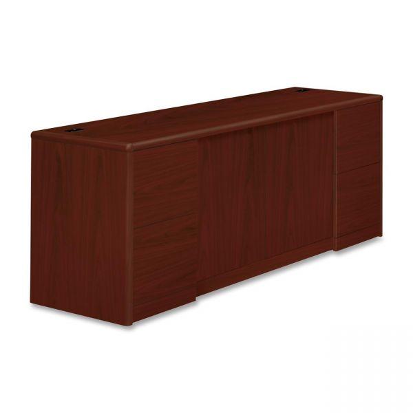 HON 10700 Series Credenza with Doors & File Pedestals
