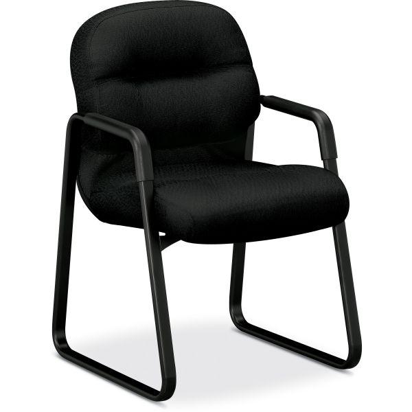 HON Pillow-Soft 2093 Series Sled Base Guest Chair