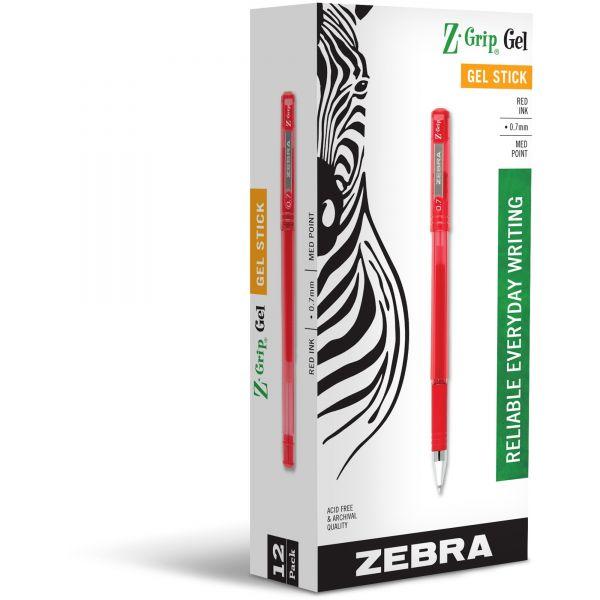 Zebra Z-Grip Gel Stick Pens