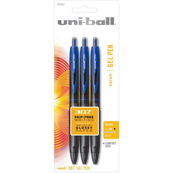 307 Retractable Gel Pen .5mm 3/Pkg