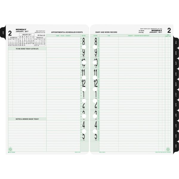 Day-Timer 2PPD Loose-leaf Original Planner Refills